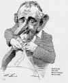 David Levine's famous cartoon of Lyndon Baynes  Johnson